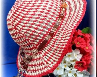 Crochet summer hat, floppy beach hat, sombrero de ganchillo, boho hats, crochet sun hat, chapéu de crochet, summer hats