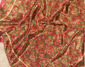 Art of the Scarf pure silk scarf. ...beautiful vintage 80s item