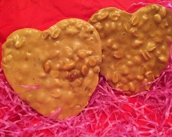 Homemade Valentine Peanut Brittle Candy-free shipping