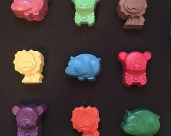 Zoo Animal Crayons Party Favors (10+ bags) -Safari Animals-