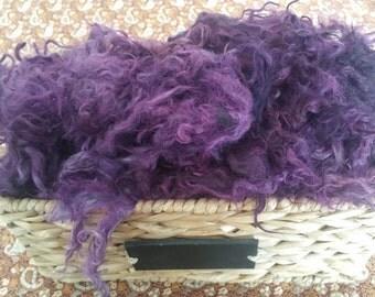 Hand Dyed Mohair Locks and Fleece 1 oz. **Purple Dream**