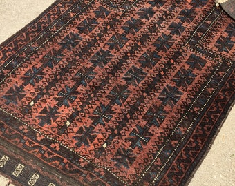 "2'10"" x 4'6"" Antique Persian Baluch Rug"
