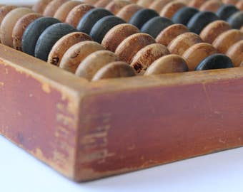 Soviet Abacus, Abacus USSR, Vintage abacus, Soviet wooden abacus. Patina