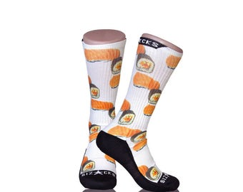 Handmade Sublimated Socks style Sushi