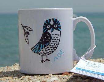 Ceramic Mug Owl of Athens