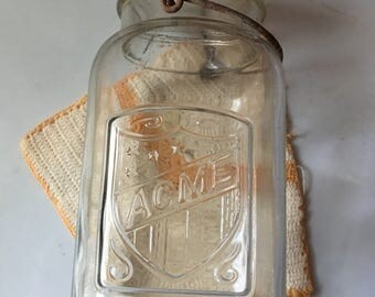 Antique Quart Acme Canning Jar!