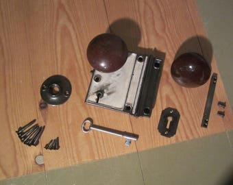"""Cast Iron Rim Lock (Vertical: 4"""" X 3 1/8"""")"""