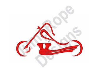 Abstract Motorcycle - Machine Embroidery Design