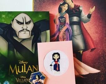 Mulan Cross Stitch Card