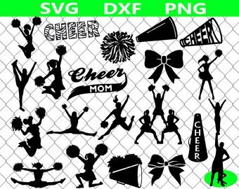 Cheer SVG bundle, Cheerleading SVG , Cheerleader SVG Files, Cheer clipart, Cheer mom svg files for silhouette, cricut files, vector art