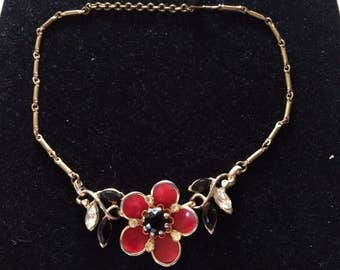 Vintage 1960s Flower Necklace