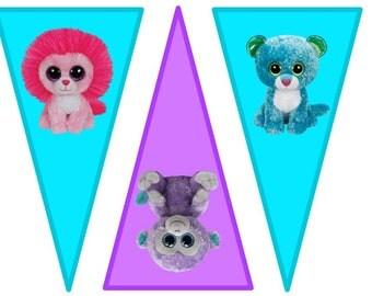 Beanie Boo Triangle Banner