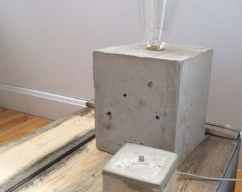 Concrete Iphone charging station
