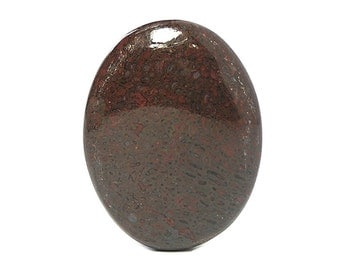 Maroon Red Dinosaur Fossil Bone Agate Oval 40x30 mm Calibrated Gemstone Cabochon