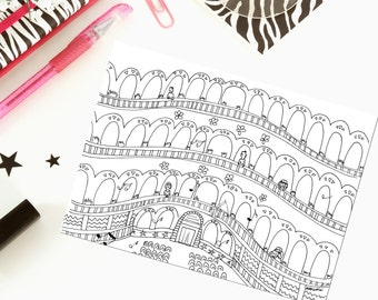At the theatre - Printable coloring page
