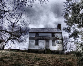 Abandoned House Photo, Abandoned House Photography, Abandoned House Print, Old House Photograph, Forgotten Home, Old House Print, Wall Art