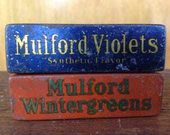 Antique H.K.Mulford Company Tins