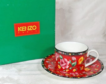 Kenzo Paris Tea Cup and Saucer Set Produced by Aito Made in Japan
