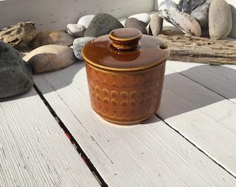 Hornsea Pottery Saffron pattern mustard jam or honey pot
