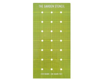 The Garden Stencil For Planning and Planting a Square Foot Garden