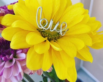 Love Ring Initial Wire Personalize