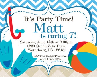 Kid's Pool Party Invitation