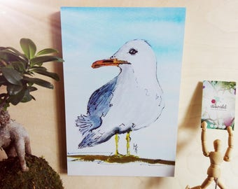 Sea Gull, bird, art print, print, print
