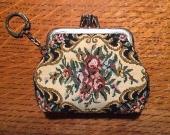 Vintage Needlepoint Coin Purse