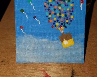 "Acrylic Mini ""UP"" Art"