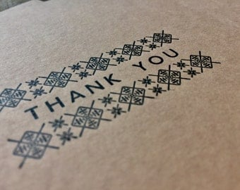 Thank You Cards Letterpress Printed Stationery using Vintage Typefaces