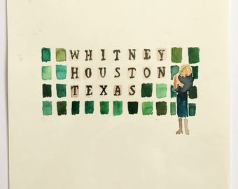 Wheel of Fortune painting- Whitney Houston Texas