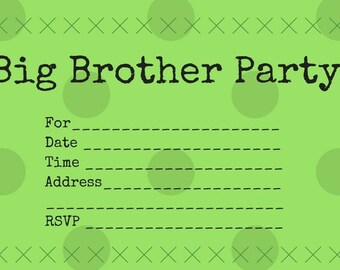 Big Brother Party Invitations