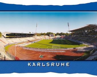 Karlsruhe Stadium postcard cushion (50 cm x 30 cm)
