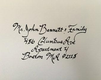 200+ Handwritten Calligraphy Envelopes