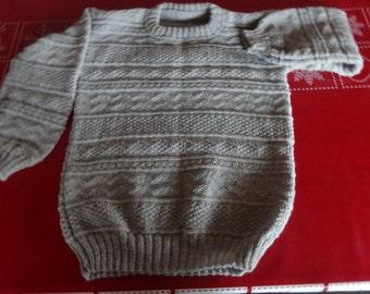 Wool sweaters handknit Gr. 140/146