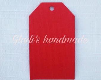 60 rectangular cardstock tags