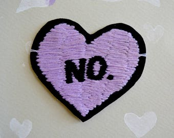 Handmade No Heart Patches