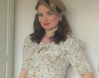 Vintage Inspired, 1940s style Tea Dress size 12