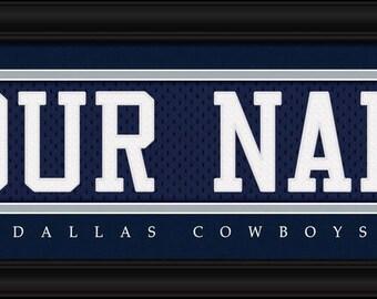 Dallas Cowboys Jersey Stitch - Framed Print - NFL Gift - NFL Item