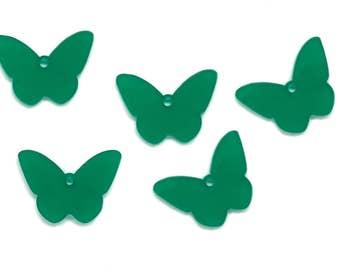 Butterfly freedom x5, Jewellery supplies butterflies bijoux, Butterfly charms, Butterfies pendant, Butterfly lasercut wood plexiglas-SET 5pz