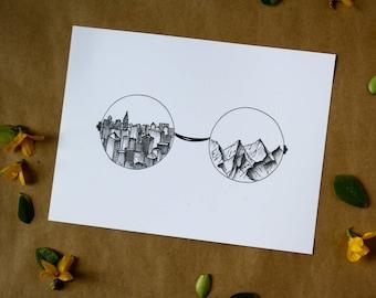 Landscape Glasses - Wall Art