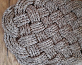 Traditionally Crafted Sailor Mat- Extended Ocean Plait in 1/2-inch Rope