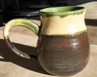 Carved Ouroboros Hourglass Mug