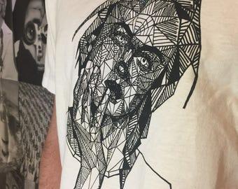 Polygonal face t-shirt