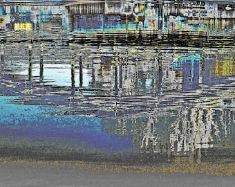 """limited artistic Photography """"The bridge in the water"""" by Thomas de Bur Germany 100% cotton canvas gallery photograph certificate"""