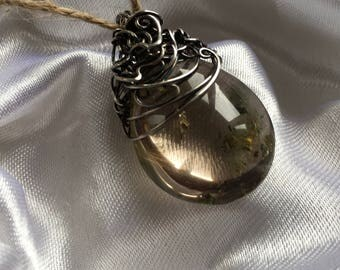 Handcrafted Lodolite & Sterling Silver Pendant by Ivelina
