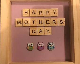 Mother's Day Scrabble Tile Frame