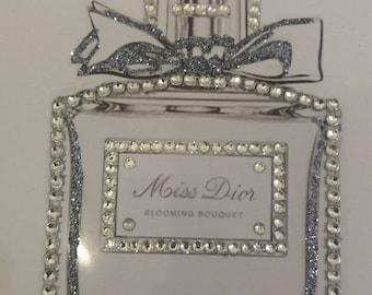Glitter and diamante dior inspired picture