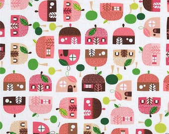 Appleville fabric -Robert Kaufman fabric -apple houses fabric -apple cotton fabric -Robert Kaufman apple fabric-quilting cotton-appleville