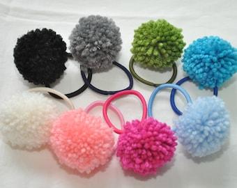 4 Pom Pom Hairbands